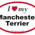 Manchester Terrier Oval Car Sticker