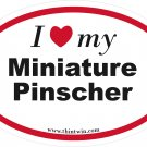 Miniature Pinscher Oval Car Sticker