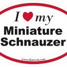 Miniature Schnauzer Oval Car Sticker