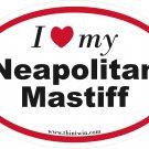 Neapolitan Mastiff Oval Car Sticker