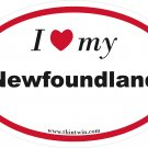 Newfoundland Oval Car Sticker