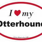 Otterhound Oval Car Sticker