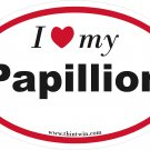 Papillion Oval Car Sticker