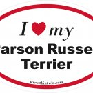 Parson Russell Terrier Oval Car Sticker