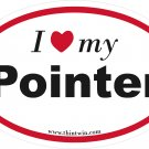 Pointer Oval Car Sticker