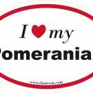 Pomeranian Oval Car Sticker