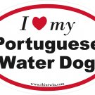 Portuguese Water Dog Oval Car Sticker