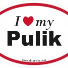 Pulik Oval Car Sticker
