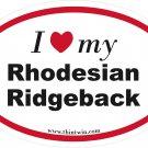 Rhodesian Ridgeback Oval Car Sticker