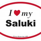 Saluki Oval Car Sticker