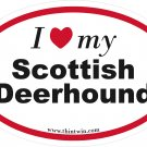 Scotish Deerhound Oval Car Sticker