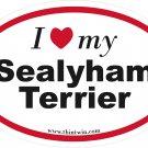 Sealyham Terrier Oval Car Sticker