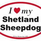 Shetland Sheepdog Oval Car Sticker