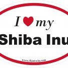 Shiba Inu Oval Car Sticker