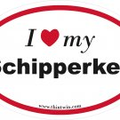 Shipperkes Oval Car Sticker