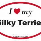 Silky Terrier Oval Car Sticker