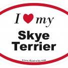 Skye Terrier Oval Car Sticker