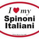 Spinoni Italiani Oval Car Sticker