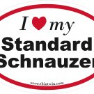 Standard Schnauzer Oval Car Sticker