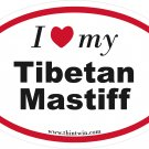 Tibetan Mastiff Oval Car Sticker