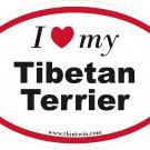 Tibetan Terrier Oval Car Sticker