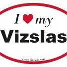 Vizslas Oval Car Sticker