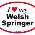 Welsh Springer Oval Car Sticker