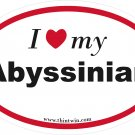 Abyssian Oval Car Sticker