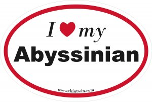Abyssian Oval Car Sticker