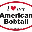 American Bobtail Oval Car Sticker