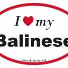 Balinese Oval Car Sticker