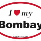 Bombay Oval Car Sticker