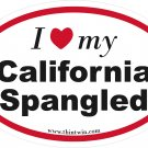 California Spangled Oval Car Sticker