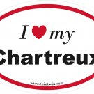 Charteux Oval Car Sticker