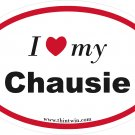 Chausie Oval Car Sticker