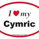 Cymric Oval Car Sticker