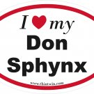 Don Sphynx Oval Car Sticker