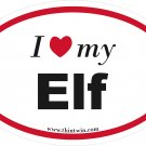 Elf Oval Car Sticker