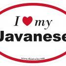 Javanese Oval Car Sticker