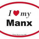 Manx Oval Car Sticker