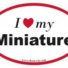 Miniature Oval Car Sticker
