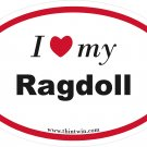 Ragdoll Oval Car Sticker