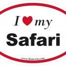 Safari Oval Car Sticker