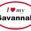 Savannah Oval Car Sticker