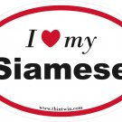 Siamese Oval Car Sticker