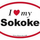 Sokoke Oval Car Sticker