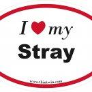 Stray Oval Car Sticker