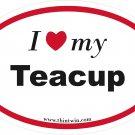 Teacup Oval Car Sticker