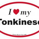Tonkinese Oval Car Sticker