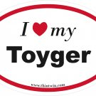 Toyger Oval Car Sticker